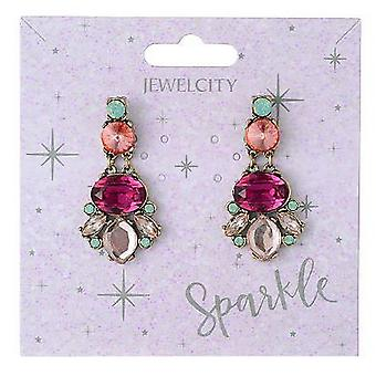 Sparkle Womens/Ladies Chunky Dangly Earrings