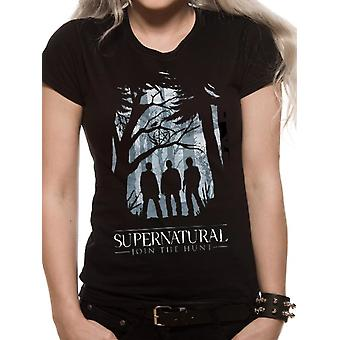 Supernatural-Group Outline T-Shirt, women