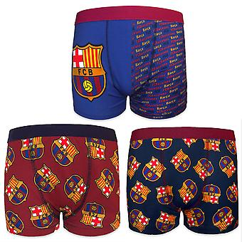 FC Barcelona Official Football Gift 1 Pack Boys Crest Boxer Shorts
