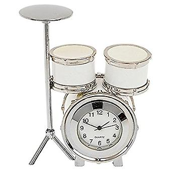 JD Novelty Miniature Mantlepiece Collectors Techno Cream Drum Kit Clock 277451