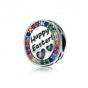 Sterling Silver Charm Happy Easter - 5540
