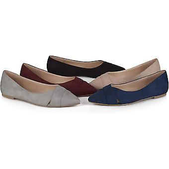 Brinley Co Womens Winslo Pointed Toe Slide Flats