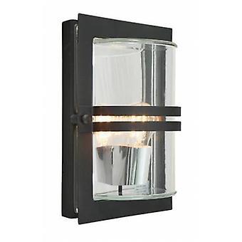 1 luz de parede exterior embutida luz preta Ip54