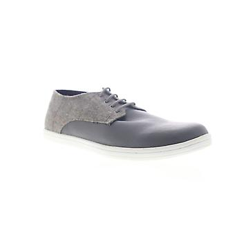 Ben Sherman Presley  Mens Gray Leather Lace Up Low Top Sneakers Shoes