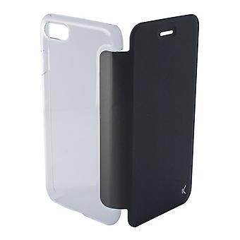 Folio Matkapuhelin Tapauksessa Iphone 8 KSIX Crystal Musta