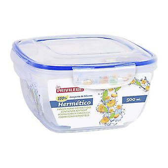 Hermetic Lunch Box Privilege Squared Transparent/500 ml