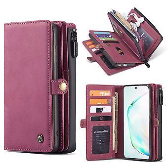 CaseMe Premium Wallet Case Hoesje Samsung Galaxy S20 Plus - Zwart