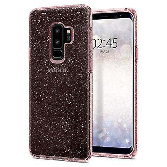 Spigen Backcover Hoesje Liquid Crystal Glitter Samsung Galaxy S9 Plus - Transparant/Roze