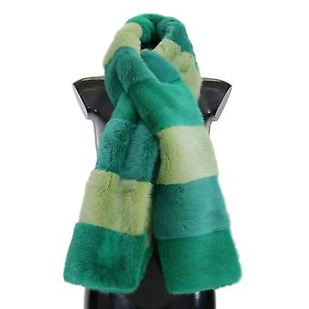 Dolce & Gabbana Green Mink Fur Scarf -- MS18205040