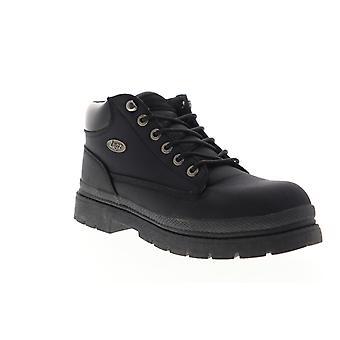 Lugz Drifter Ballistic  Mens Black Canvas Casual Dress Lace Up Boots Shoes