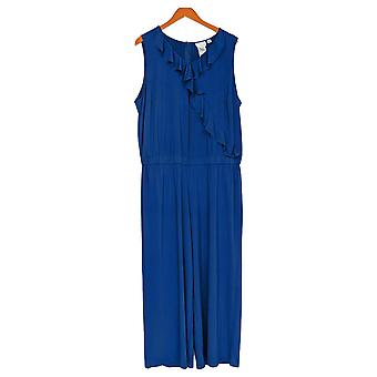 Joan Rivers Classics Kollektion Petite Jumpsuits Jersey Navy Blue A303081