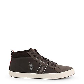 Man leather sneakers shoes ua93367