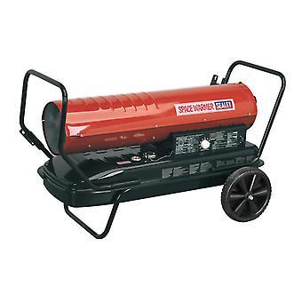 Sealey Ab1758 Space Warmer Paraffin Kerosene & Diesel Heater 175Kbtu/Hr Wheels
