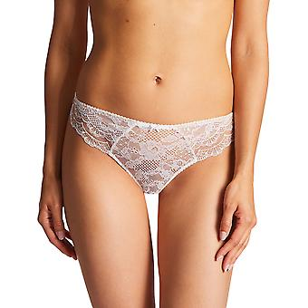 Aubade ND26 Women's Soleil Nocturne Opale Off White Floral Lace Embroidered Knicker Panty Tanga