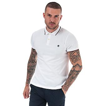 Men&s Timberland Millers River Tipped Polo Camicia in bianco