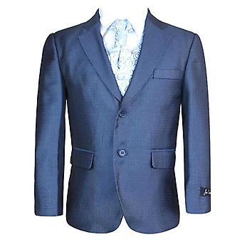 Boys 5 PC Blue Tonic Wedding Cravat Suit, Pageboy, Party