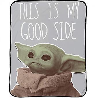 Star Wars Mandalorian Lapsi My Good Side 46 x 60 Heittää