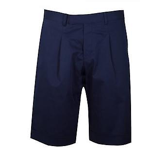 CC Collection Corneliani Marine Blue Cotton Short