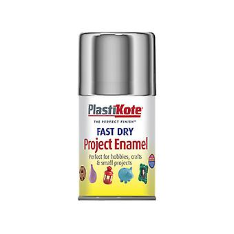 Plasti-kote Fast Dry Enamel Aerosol Chrome 100ml PKT150S