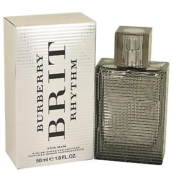 Burberry Brit ritmo intenso por Burberry Eau De Toilette Spray 1.7 oz/50 ml (hombres)