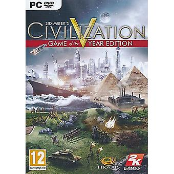 Civilization 5 Game of the Year Edition PC DVD Game