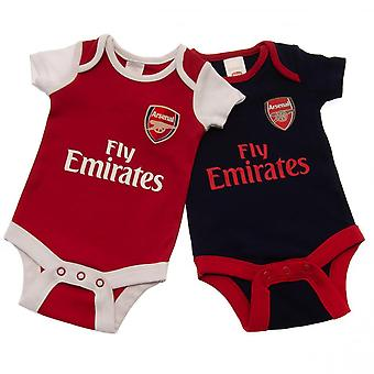 Arsenal FC Official Baby Bodysuits (2 Pack)
