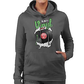 London Banter Vinyl Süchtige Frauen's Kapuzen Sweatshirt