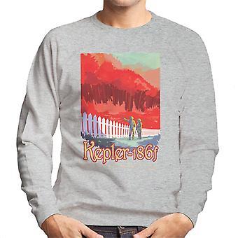 NASA Kelper 186f interplanetare Reisen Poster Herren Sweatshirt