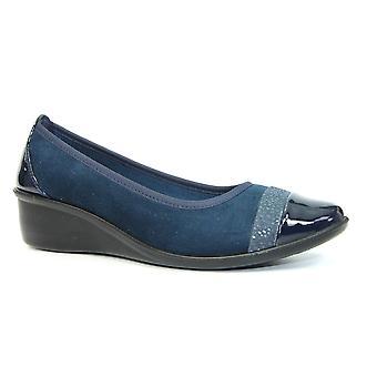 Sapato de conforto de cunha eleanor lunar