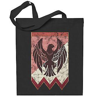 Musta Eagles Logo Fire Tunnus Kolme Talo Totebag