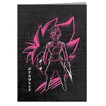 Biglietto d'auguri Goku Nero Rosa