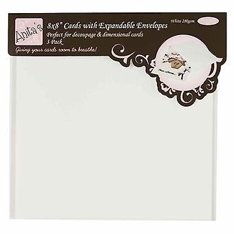 Anita's 8x8 Inch Cards & Expandable Envelopes (3pk) (ANT 1706100)