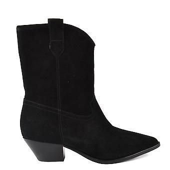 Ash Footwear Foxy Black Suede Boot