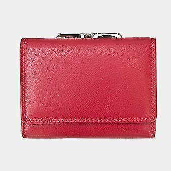 Primehide Clip Top Frame Womens Leather Purse Wallet RFID Blocking Ladies 2321