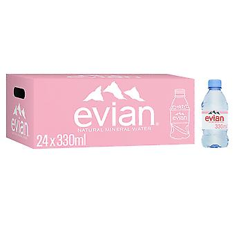 24 x 330ml Evian Mineral Still Water Lunch Healthy Drink Hydrate