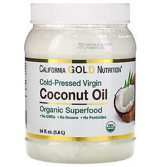 California Gold Nutrition, Cold-Pressed Organic Virgin Coconut Oil, 54 fl oz (1.