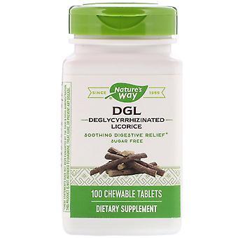 Nature's Way, DGL, Liquirizia deglycirrhizinata, 100 compresse masticabili