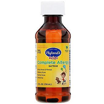 Hyland's, 4 Kids, Complete Allergy, Daytime, 4 fl oz (118 ml)