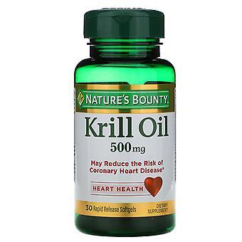 Nature's Bounty, Krillolja, 500 mg, 30 Rapid Release Softgels