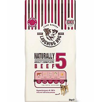 Laughing Dog 5 grâu gratuit de carne de vită completă - 2kg
