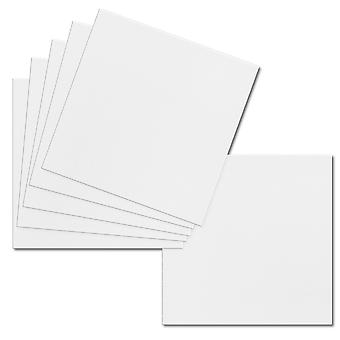 تأثير الأبيض. 123mm × 123mm. مربع صغير. ورقة بطاقة 250gsm.