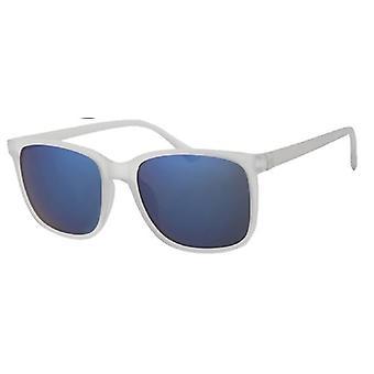 Sunglasses Unisex Wayfarer white/blue UV400