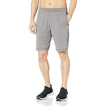 Essentials Men's Tech Stretch Training Short, Charcoal Grey Heather, L...