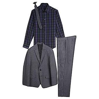 Sean John Boys' Big 4-Piece Formal Suit Set, Black, 18
