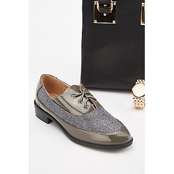 Lurex Panel Oxford Schuhe
