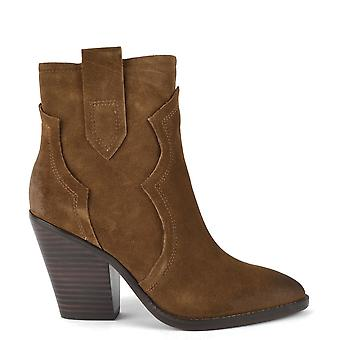 Ash ESQUIRE Heeled Boots Brushed Russet Suede