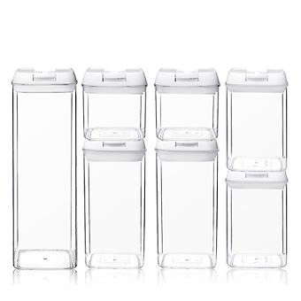YANGFAN Easy Plastic Transparent Kitchen Sealed Jar
