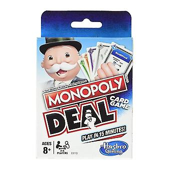 Hasbro Monopoly Deal Games Play Cards Board Game Family Party Poker -fun
