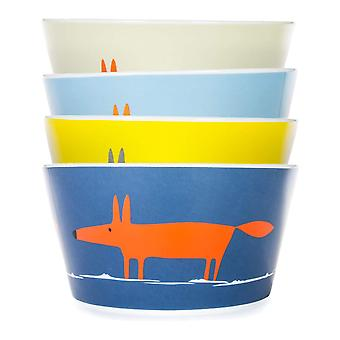Scion Mr Fox Set of 4 Snack Bowls