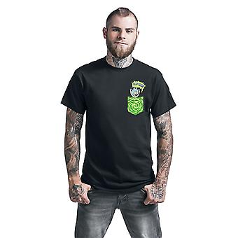 Rick y Morty Unisex Adulto Tiny Camiseta de Bolsillo